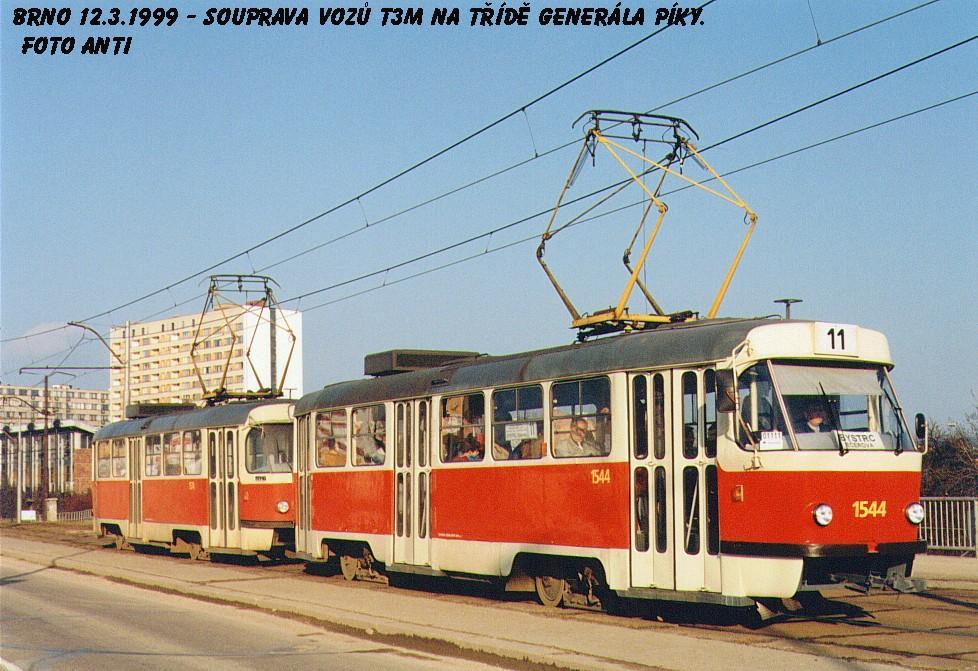 Fotogalerie » ČKD Tatra T3M 1544 | Brno | Černá Pole | třída Generála Píky