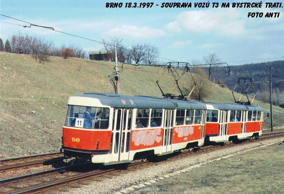 Fotogalerie » ČKD Tatra T3 1549 | Brno | Bystrc