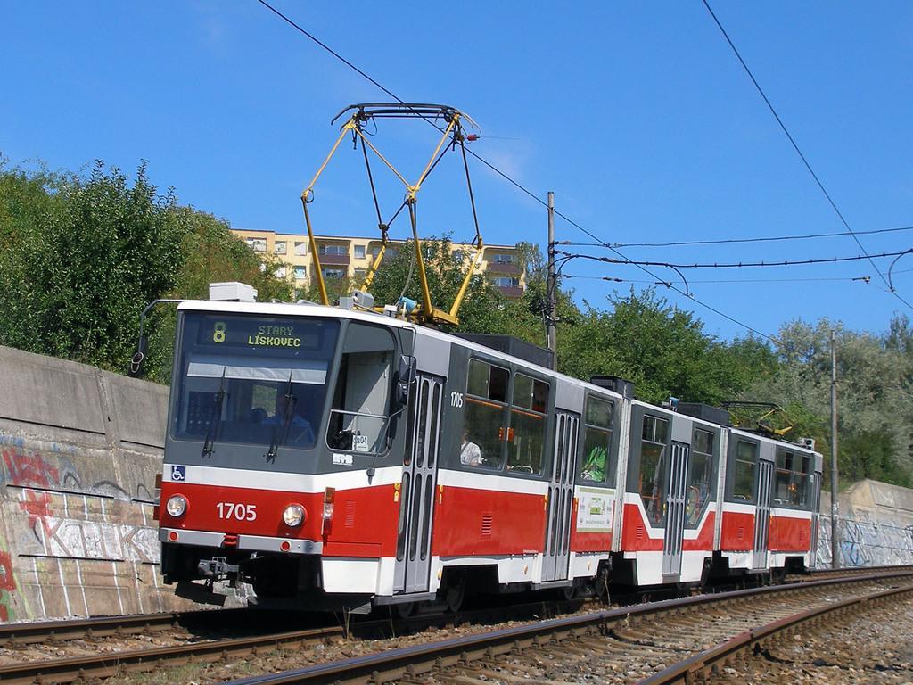 Fotogalerie » ČKD Tatra KT8D5R.N2 1705 | Brno | Líšeň