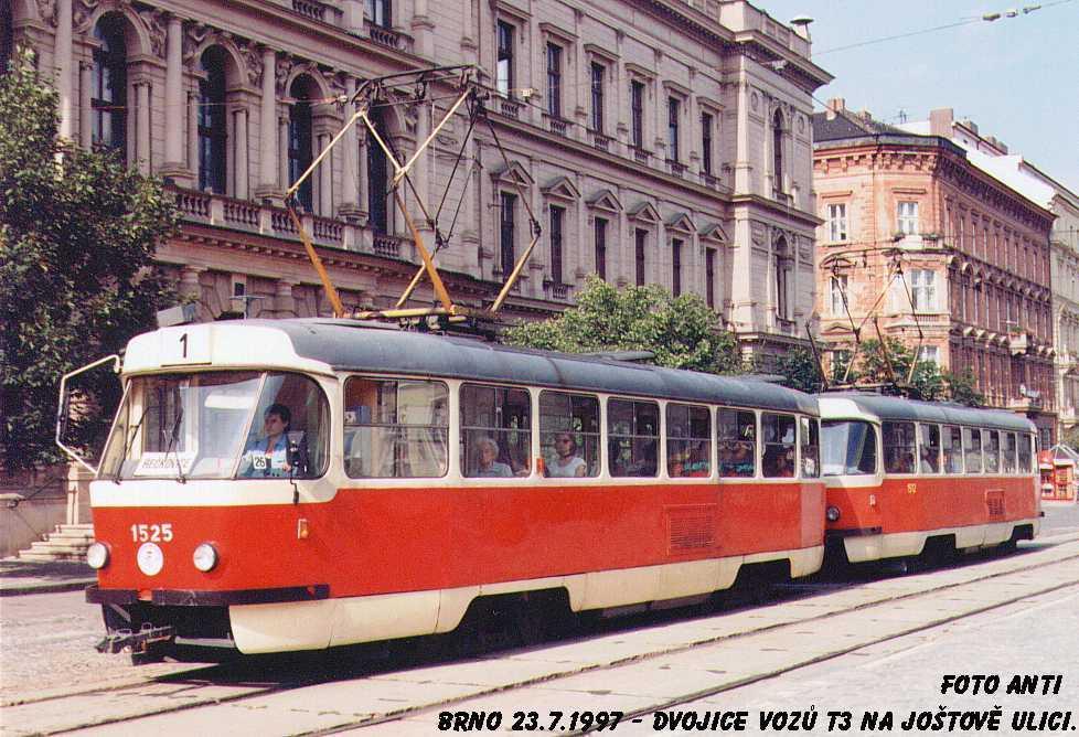 Fotogalerie » ČKD Tatra T3 1525 | Brno | střed | Joštova