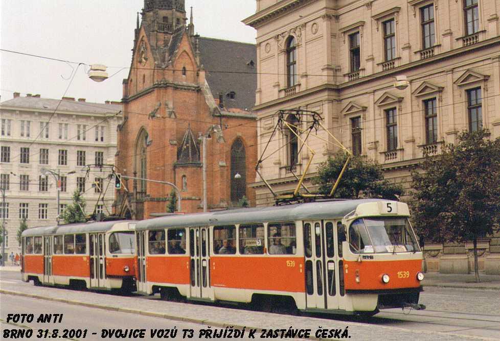 Fotogalerie » ČKD Tatra T3 1539 | Brno | střed | Joštova | Česká
