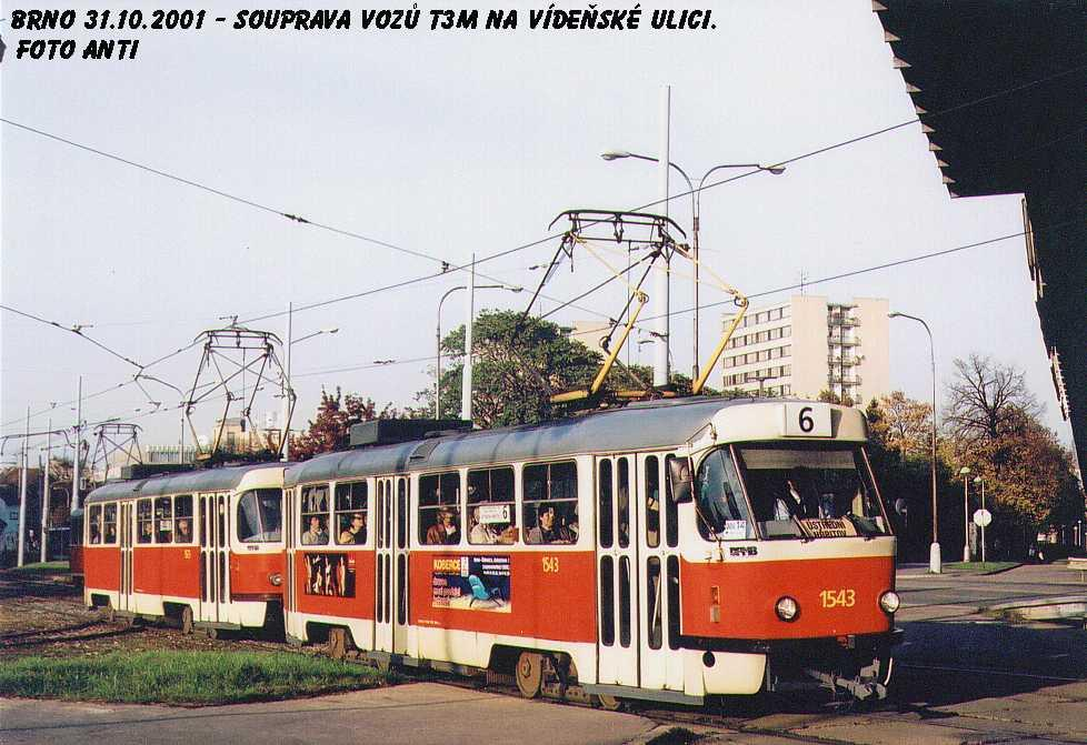 Fotogalerie » ČKD Tatra T3M 1543 | Brno | Štýřice | Vídeňská