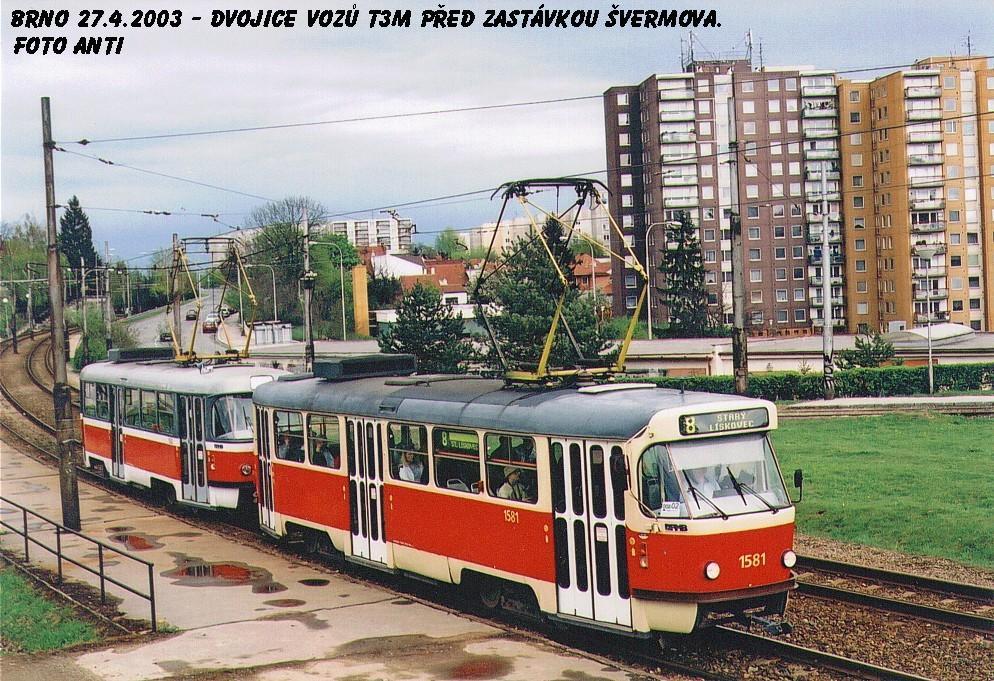 Fotogalerie » ČKD Tatra T3M 1581 | ČKD Tatra T3M 1582 | Brno | Bohunice