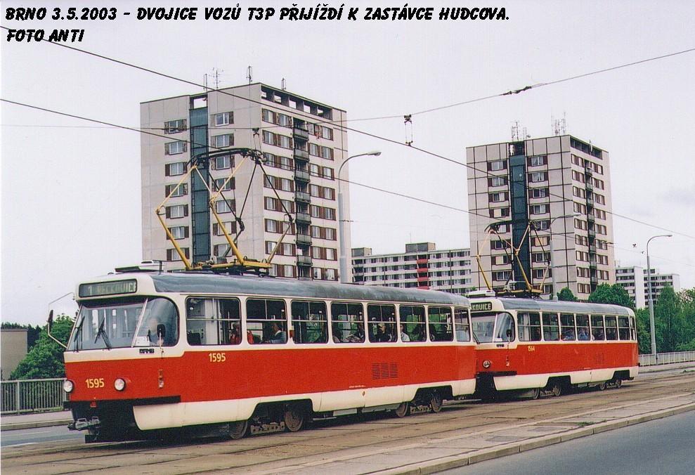 Fotogalerie » ČKD Tatra T3P 1595 | ČKD Tatra T3P 1564 | Brno | Medlánky | Kuřimská