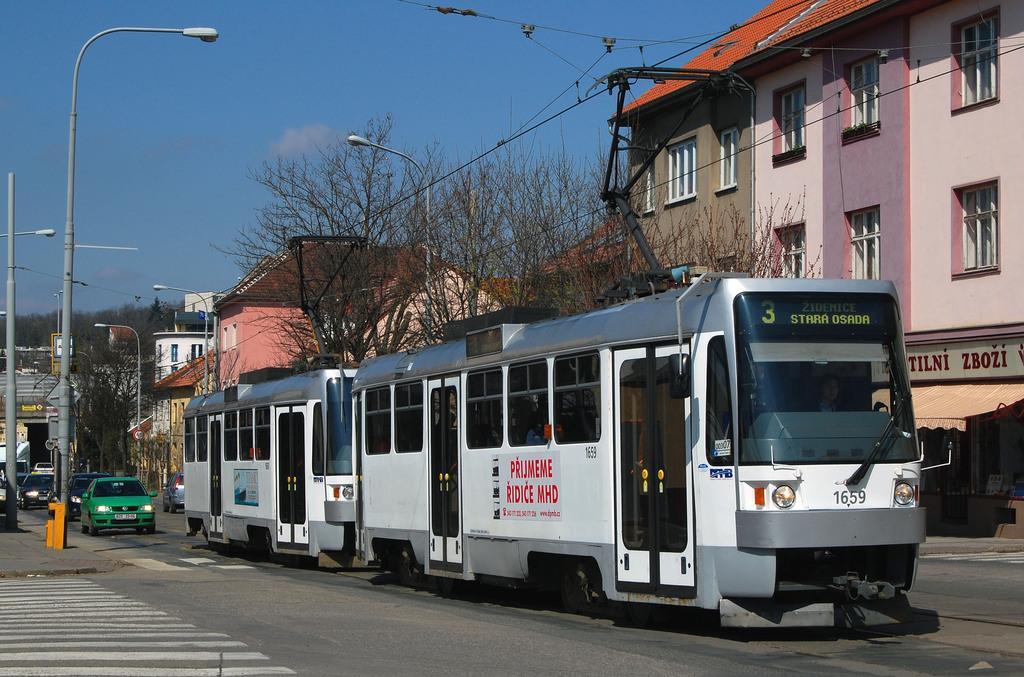 Fotogalerie » ČKD DS T3R 1659 | ČKD DS T3R 1660 | Brno | Žabovřesky | Minská
