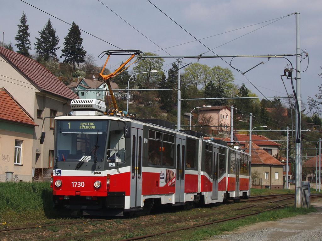 Fotogalerie » ČKD Tatra KT8D5N 1730 | Brno | Komín | Kníničská