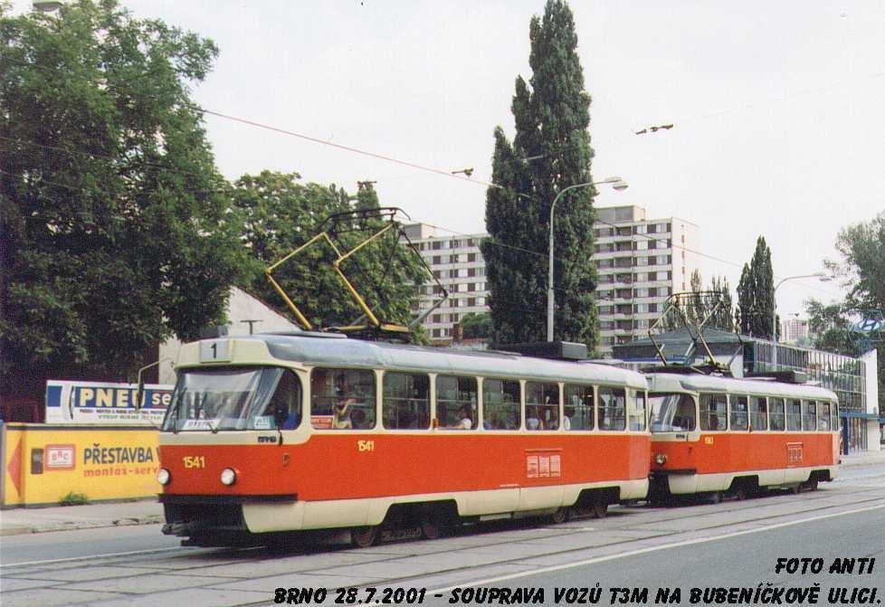 Fotogalerie » ČKD Tatra T3M 1541 | Brno | Židenice | Bubeníčkova
