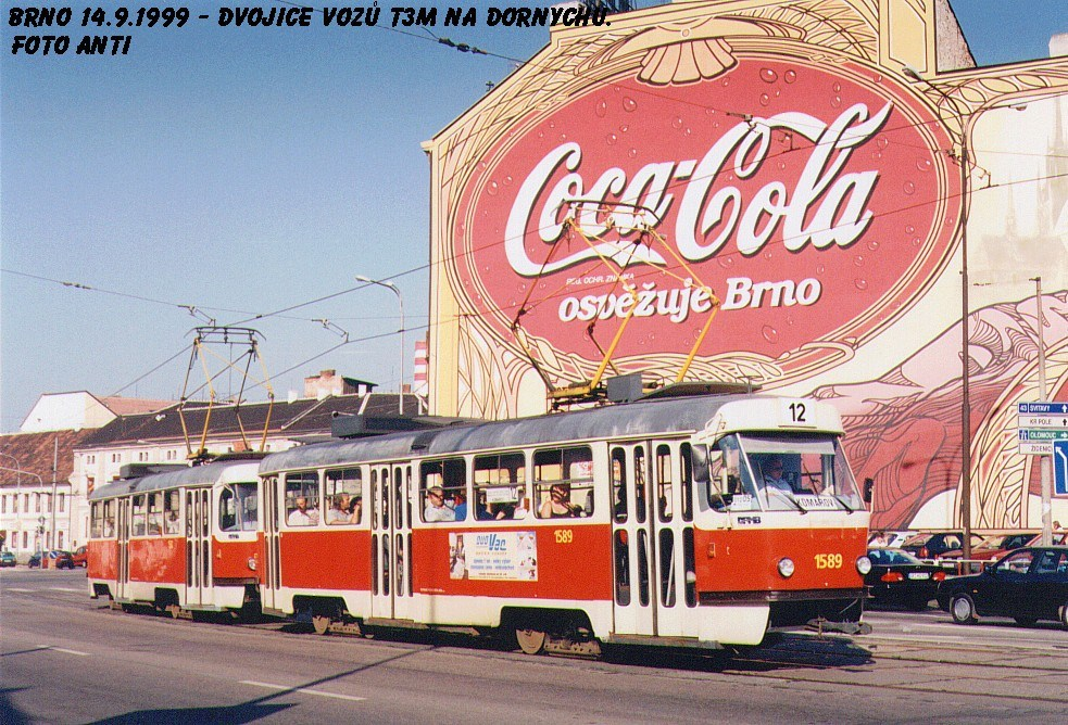 Fotogalerie » ČKD Tatra T3M 1589   Brno   Trnitá   Dornych