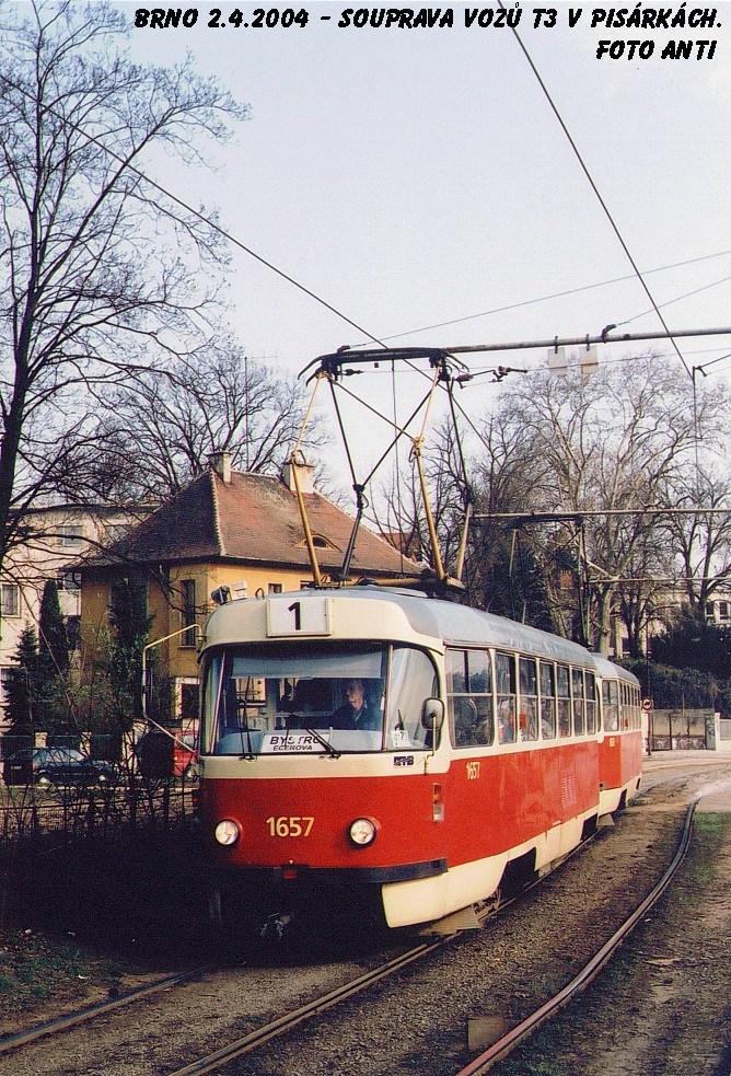 Fotogalerie » ČKD Tatra T3 1657 | ČKD Tatra T3 1658 | Brno | Pisárky | Žabovřeská