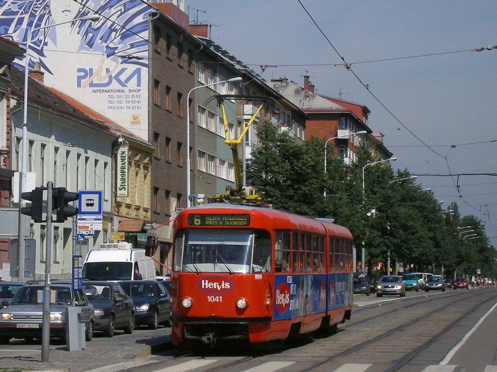 Fotogalerie » ČKD Tatra K2P 1041 | Brno | Ponava | Štefánikova | Pionýrská
