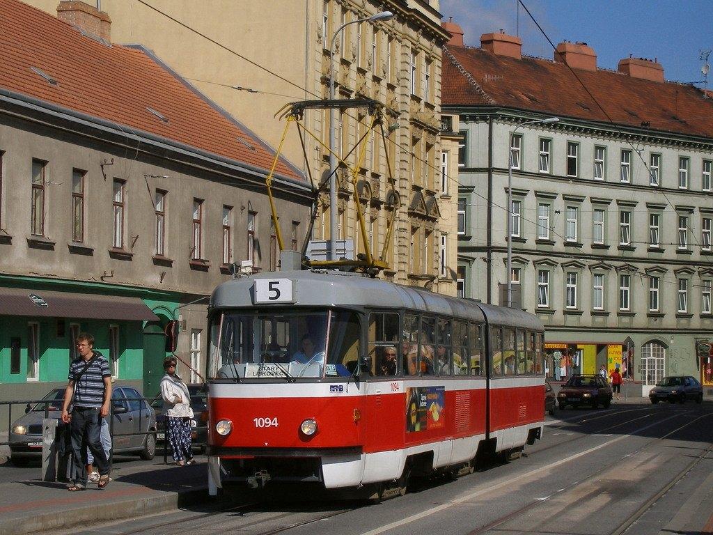 Fotogalerie » ČKD Tatra K2 1094 | Brno | Staré Brno | Křížová | Poříčí