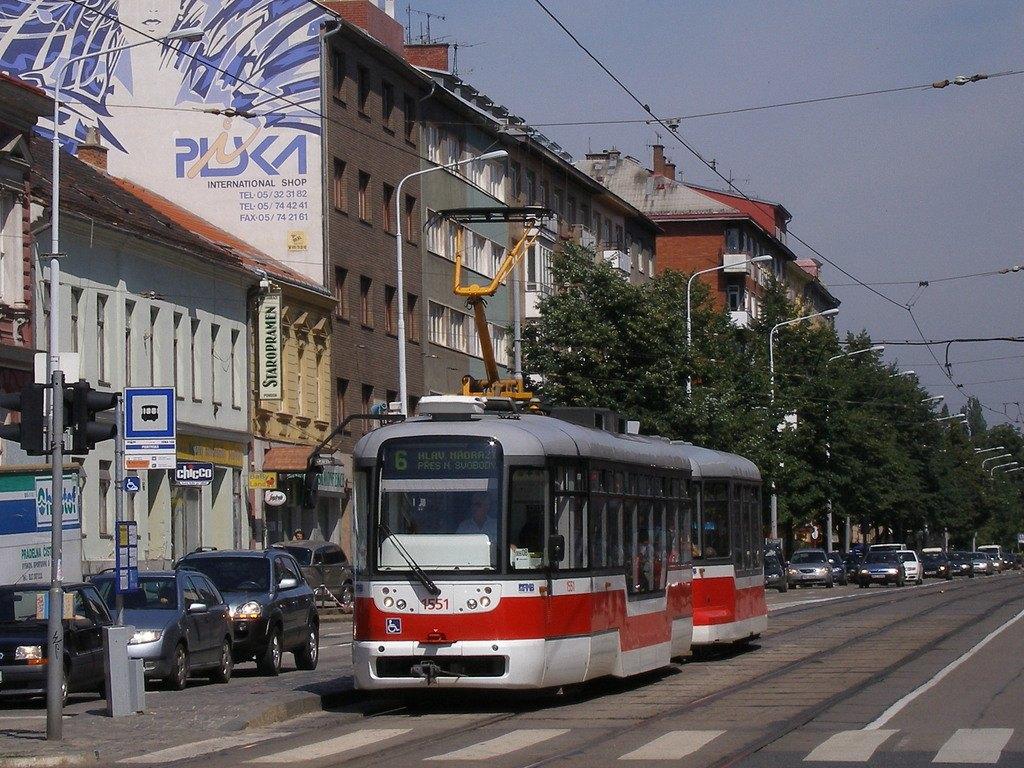 Fotogalerie » Pragoimex VarioLFR.E 1551 | Pragoimex VV60LF 1303 | Brno | Ponava | Štefánikova | Pionýrská