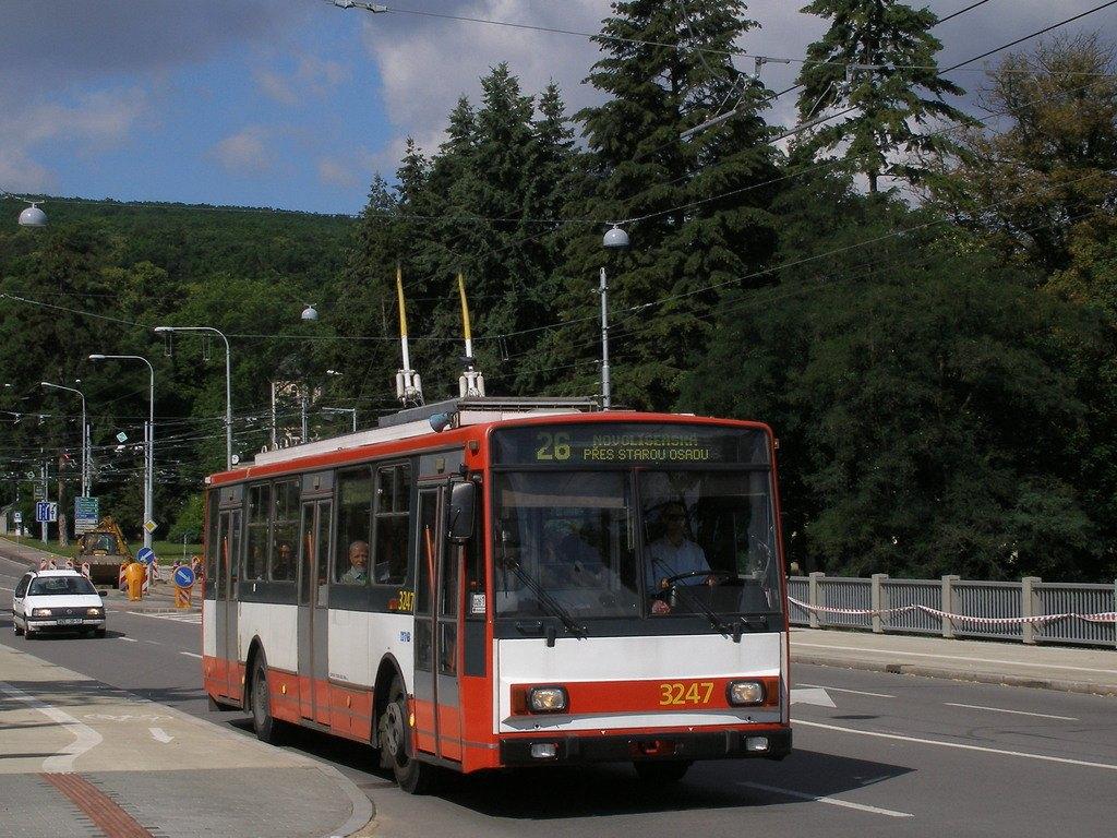 Fotogalerie » Škoda 14TrR 3247 | Brno | Pisárky | Pisárecká