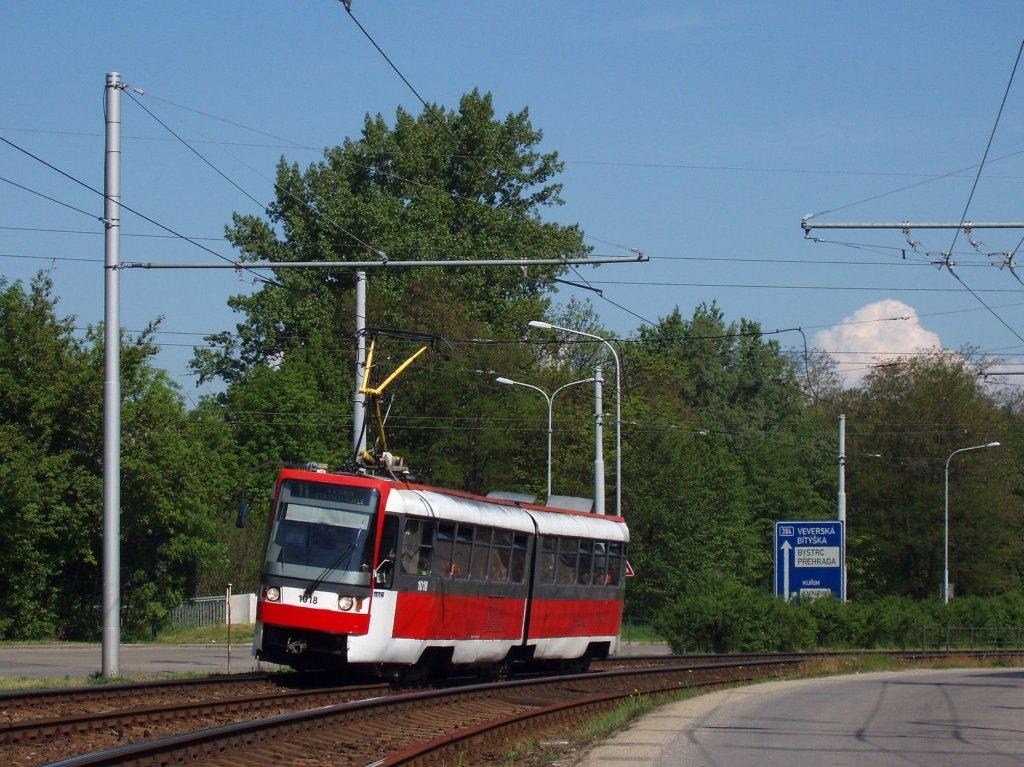 Fotogalerie » ČKD Tatra K2R 1018 | Brno | Komín | Kníničská