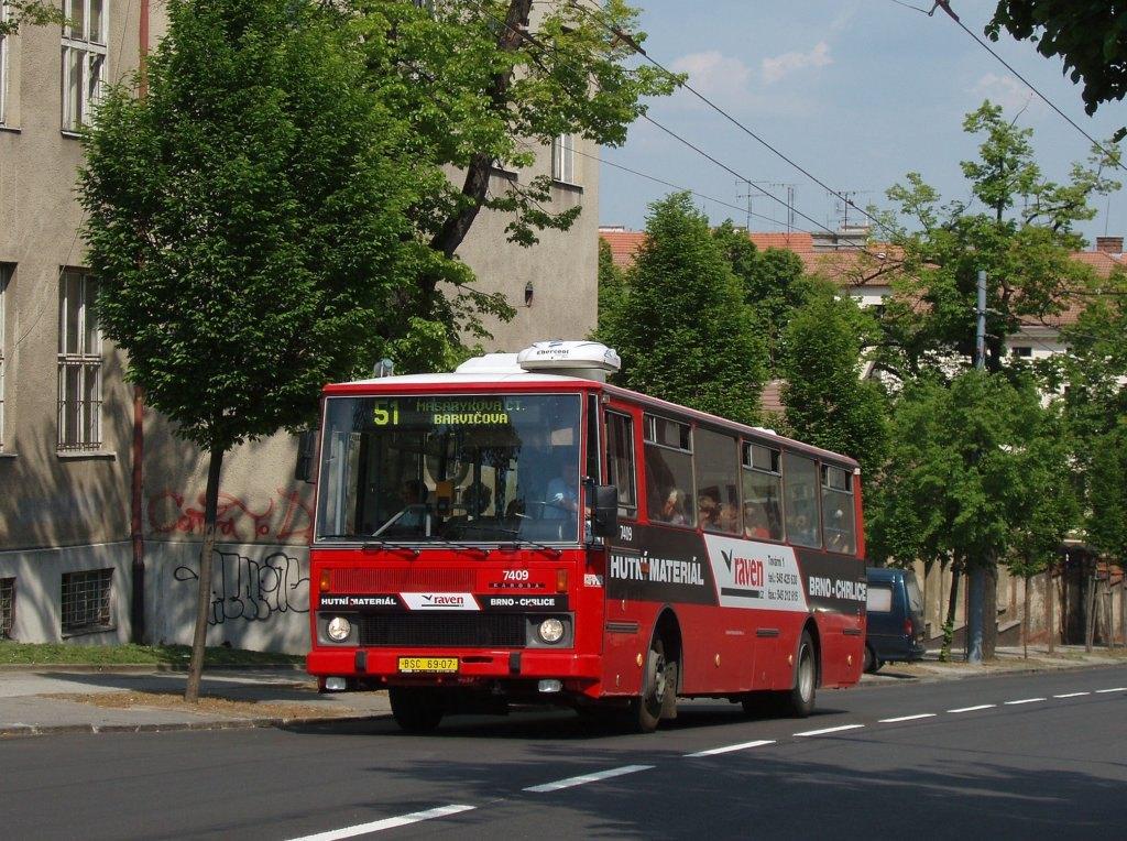 Fotogalerie » Karosa B731.1669 7409 | Brno | Masarykova čtvrť | Tvrdého
