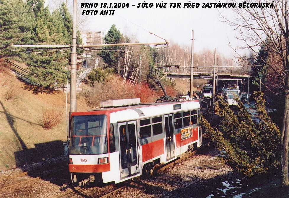 Fotogalerie » ČKD DS T3R 1615   Brno   Bohunice