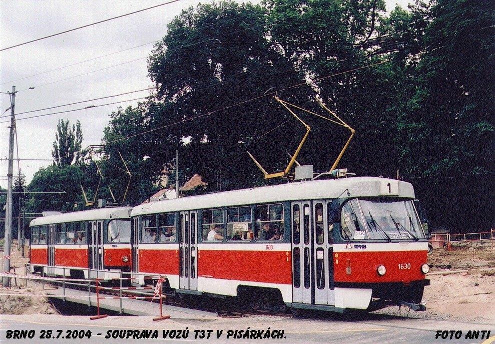 Fotogalerie » ČKD Tatra T3T 1630   ČKD Tatra T3T 1627   Brno   Pisárky   Žabovřeská