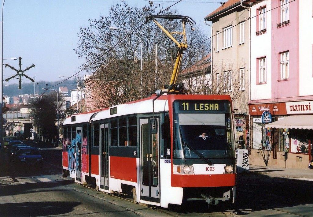 Fotogalerie » ČKD Tatra K2R 1003   Brno   Žabovřesky   Horova   Burianovo náměstí