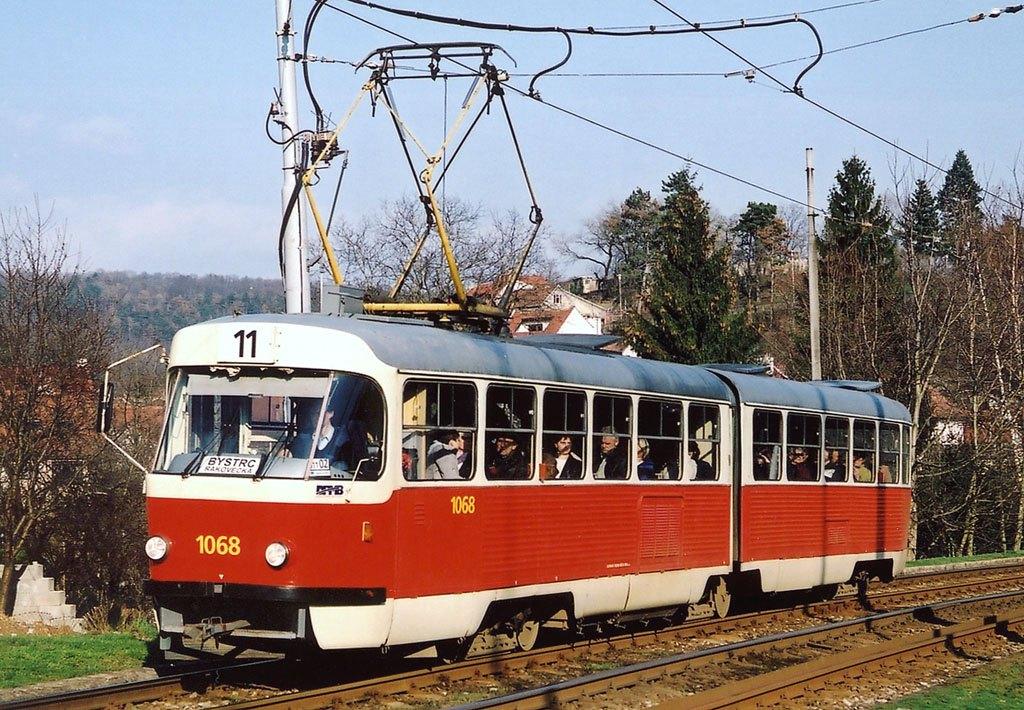 Fotogalerie » ČKD Tatra K2 1068 | Brno | Komín | Kníničská