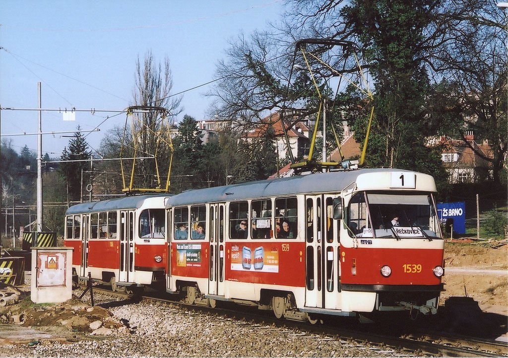 Fotogalerie » ČKD Tatra T3 1539 | ČKD Tatra T3 1598 | Brno | Pisárky