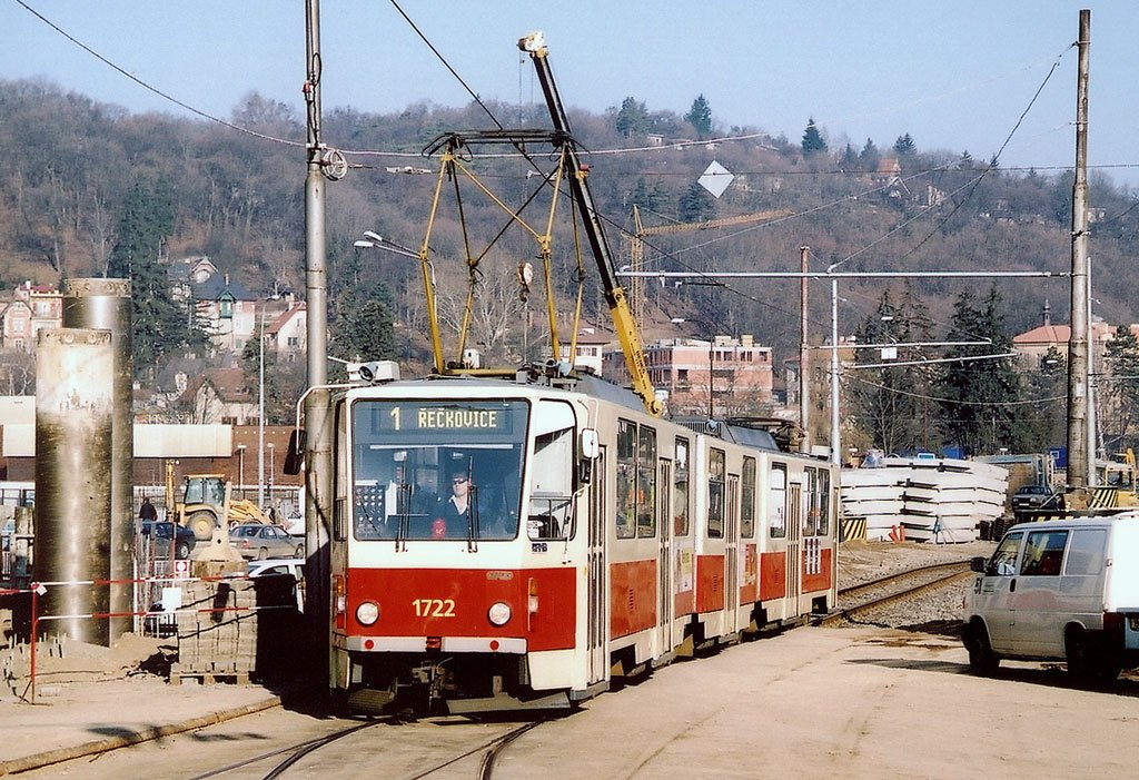 Fotogalerie » ČKD Tatra KT8D5 1722 | Brno | Pisárky | Hlinky