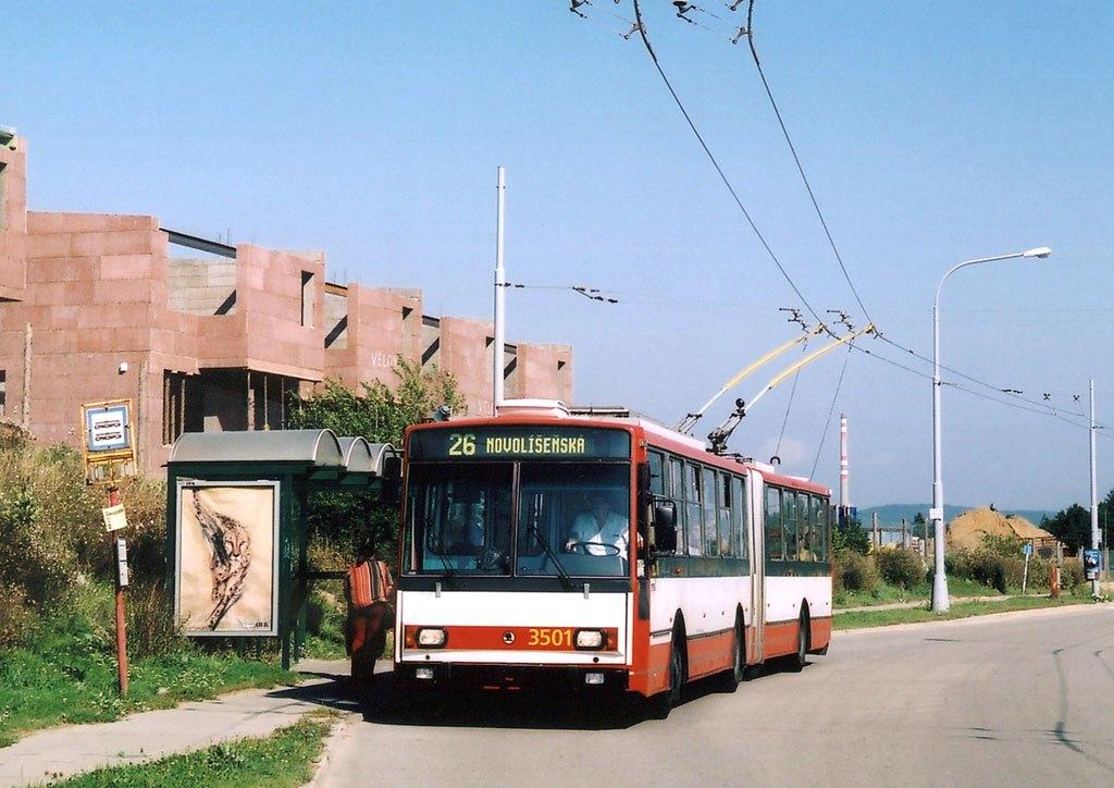 Fotogalerie » Škoda 15TrM 3501 | Brno | Vinohrady | Věstonická | Mutěnická