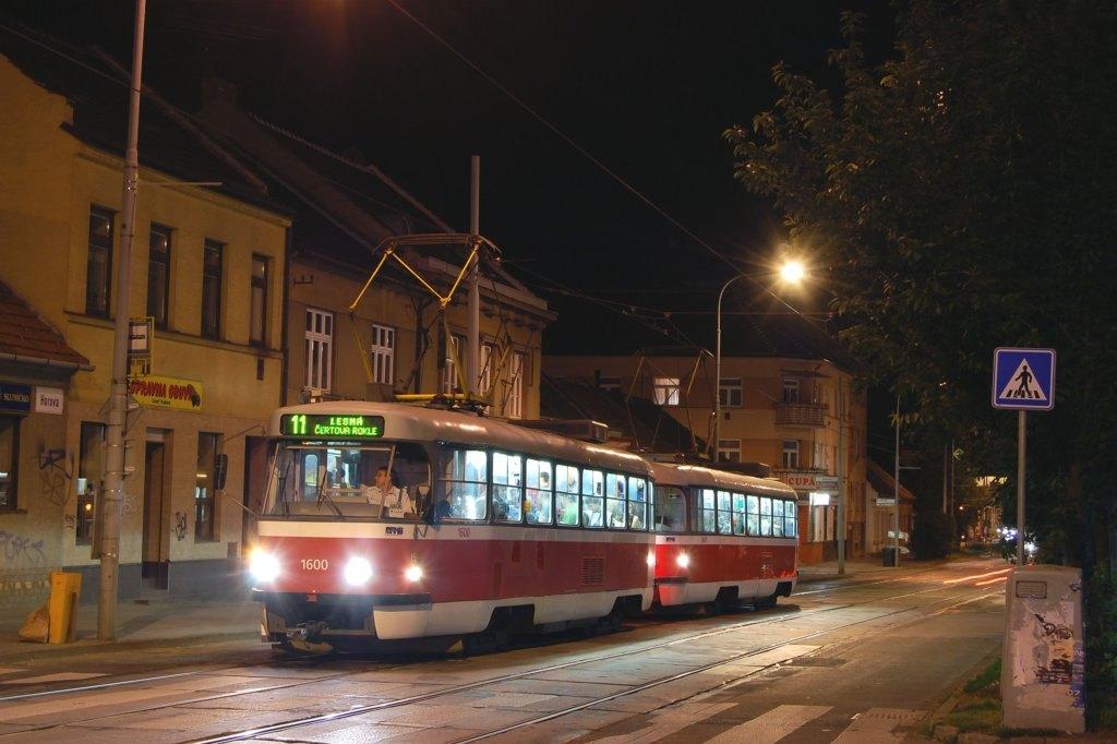 Fotogalerie » ČKD Tatra T3M 1600 | ČKD Tatra T3M 1601 | Brno | Žabovřesky | Horova | Burianovo náměstí