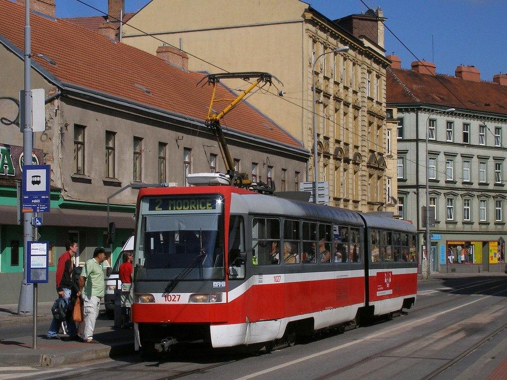 Fotogalerie » ČKD Tatra K2R03 1027 | Brno | Staré Brno | Křížová | Poříčí