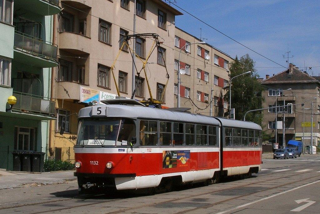 Fotogalerie » ČKD Tatra K2YU 1132 | Brno | Černá Pole | Merhautova