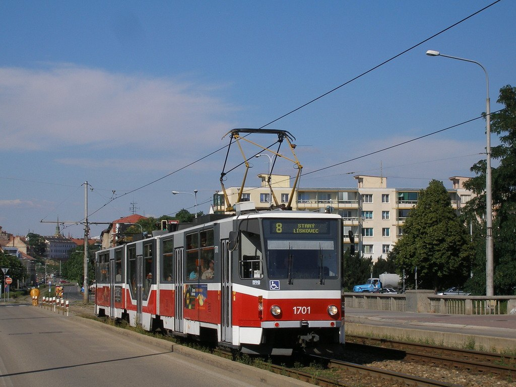 Fotogalerie » ČKD Tatra KT8D5R.N2 1701 | Brno | Štýřice | Renneská