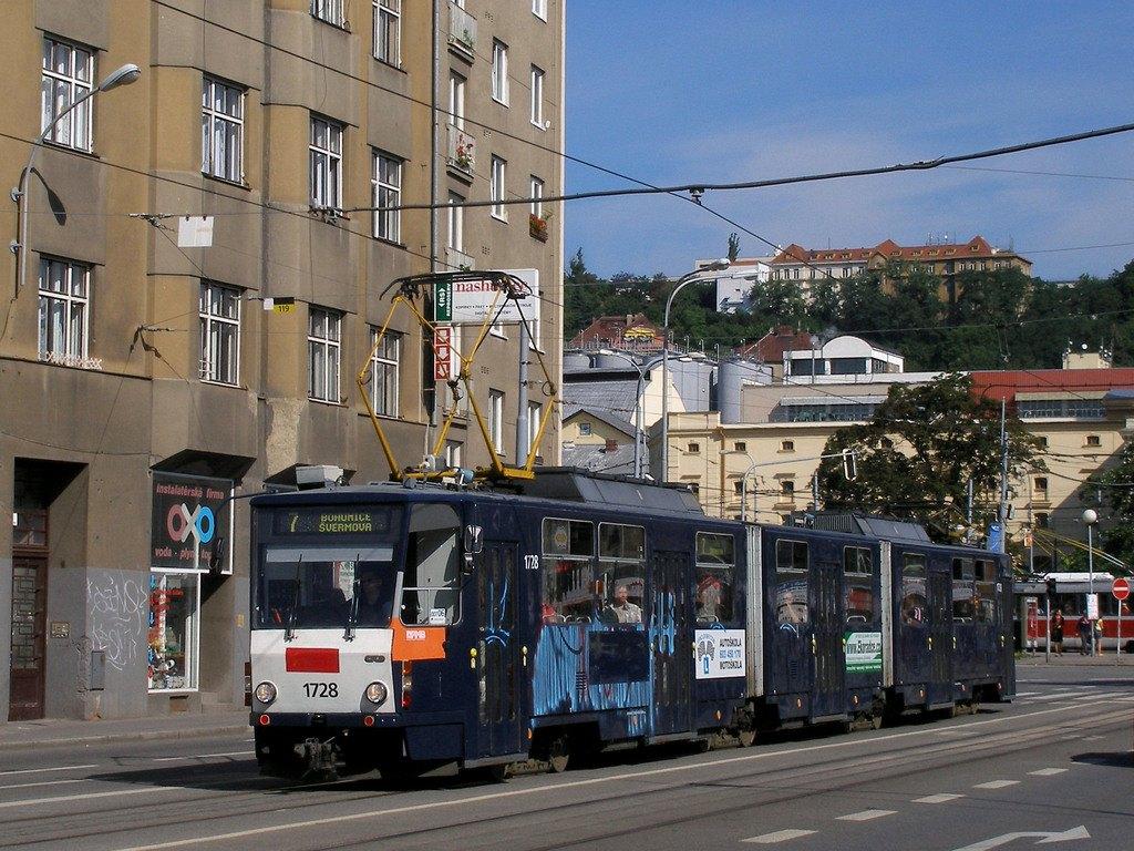 Fotogalerie » ČKD Tatra KT8D5SU 1728 | Brno | Staré Brno | Křížová