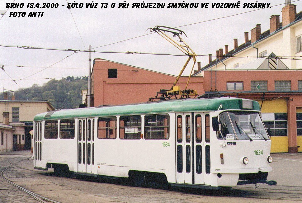 Fotogalerie » ČKD Tatra T3G 1634 | Brno | vozovna Pisárky