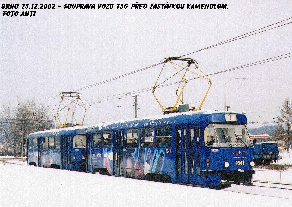 Fotogalerie » ČKD Tatra T3G 1641 | Brno | Komín | Kníničská | Kamenolom