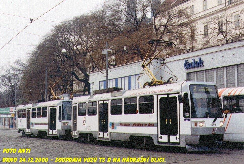 Fotogalerie » ČKD DS T3R 1659 | ČKD DS T3R 1660 | Brno | střed | Benešova