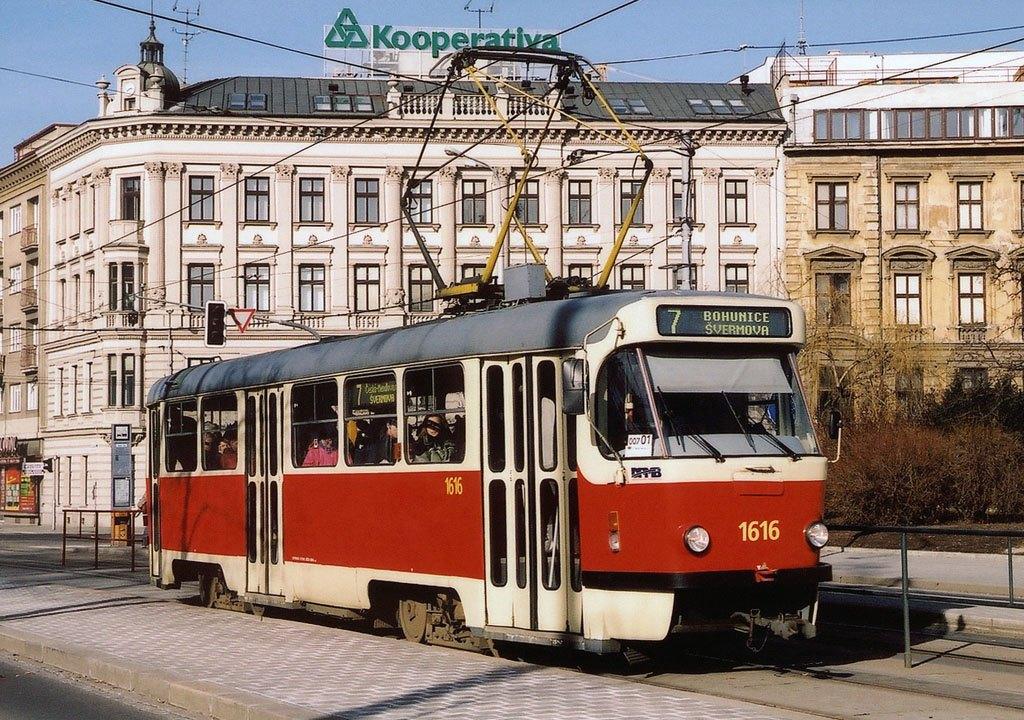 Fotogalerie » ČKD Tatra T3G 1616 | Brno | střed | Moravské náměstí | Moravské náměstí