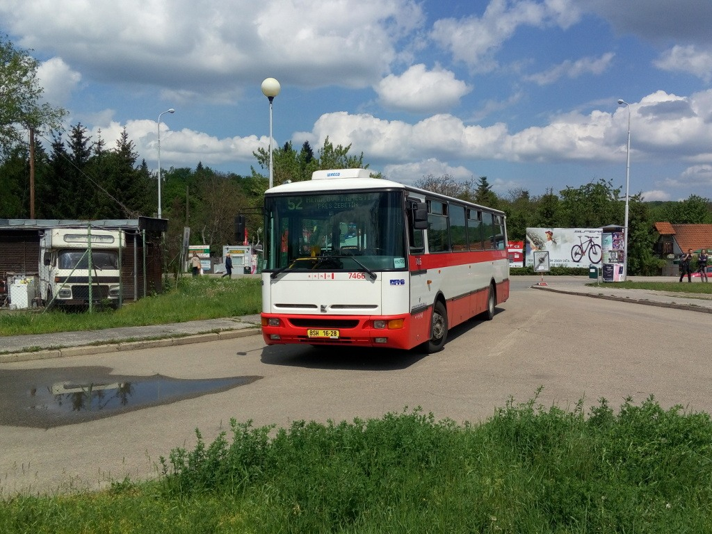 Fotogalerie » Karosa B931E.1707 BSH 16-28 7466 | Brno | Bystrc | Přístavní | Přístaviště, smyčka