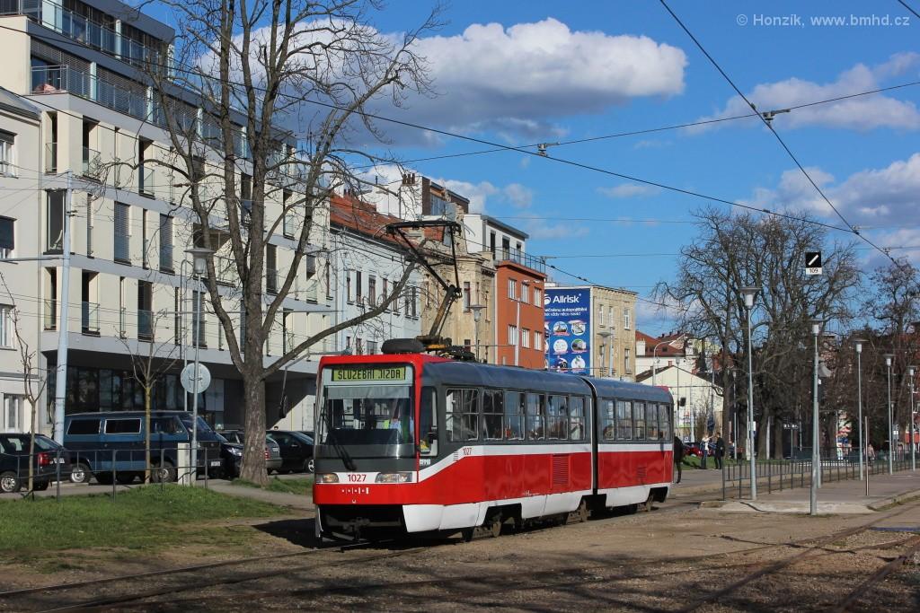 Fotogalerie » ČKD Tatra K2R03 1027 | Brno | Pisárky | Hlinky