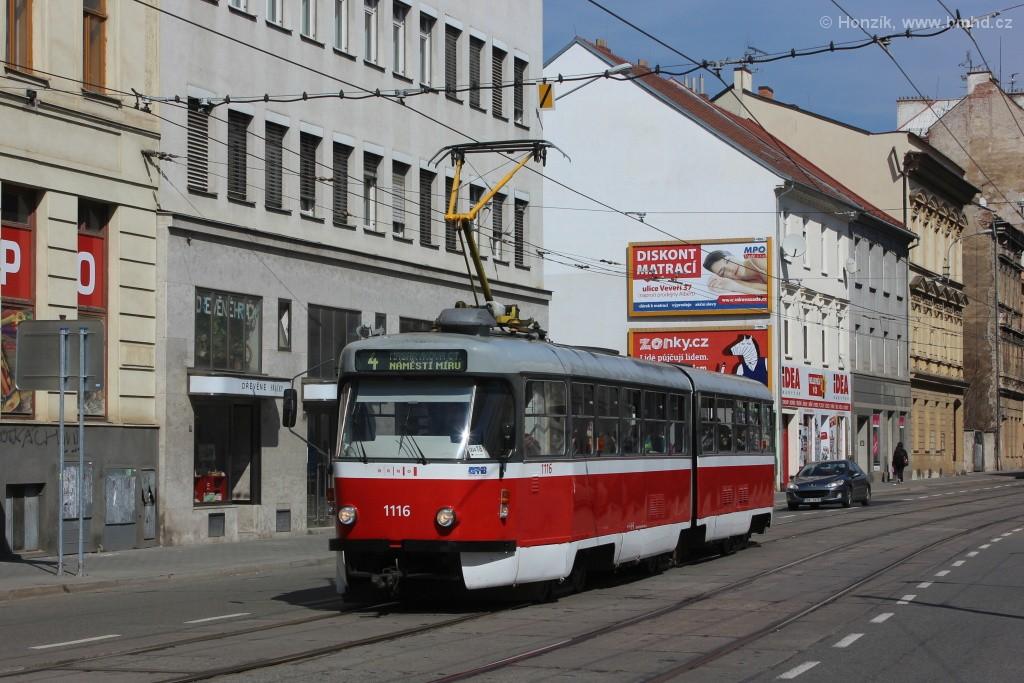 Fotogalerie » ČKD Tatra K2P 1116 | Brno | střed | Cejl