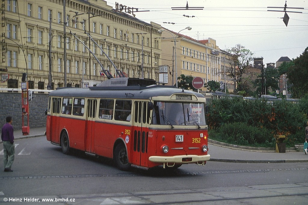 Fotogalerie » Škoda 9TrHT28 3152 | Brno | střed | Nádražní | Hlavní nádraží