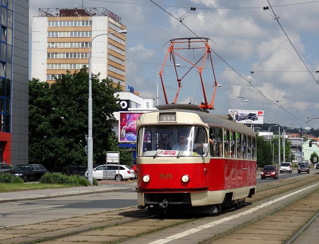 Fotogalerie » ČKD Tatra T3 1525   Brno   Královo Pole   Palackého třída