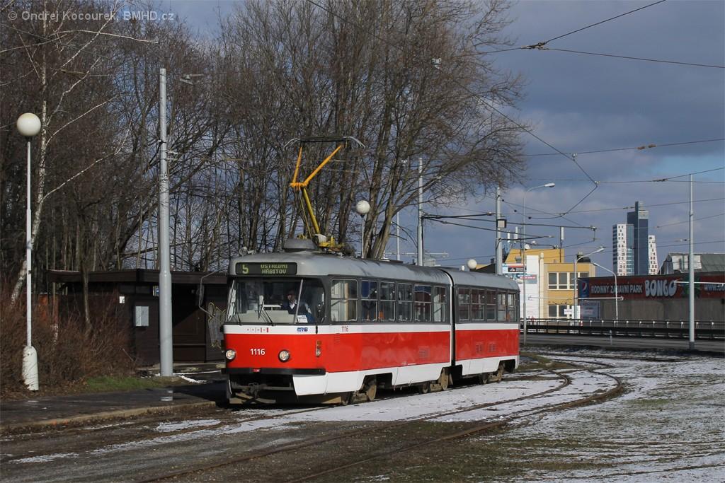 Fotogalerie » ČKD Tatra K2P 1116   Brno   Horní Heršpice