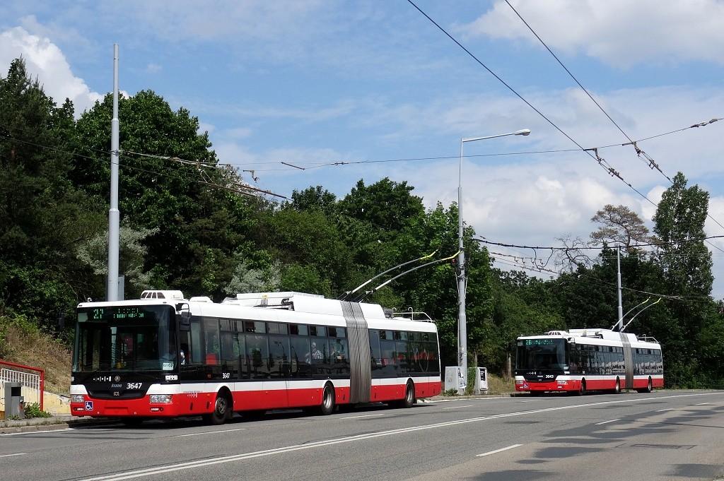 Fotogalerie » Škoda 31Tr 3647   Škoda 31Tr 3643   Brno   Vinohrady   Žarošická   Vlčnovská
