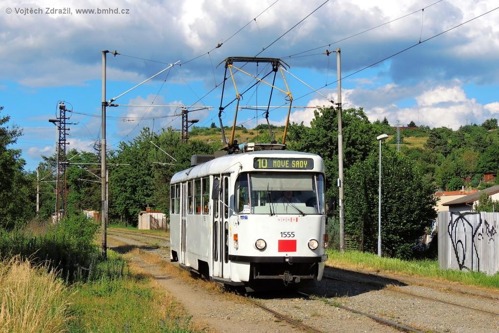 Fotogalerie » ČKD Tatra T3M 1555   Brno   Slatina   Podstránská