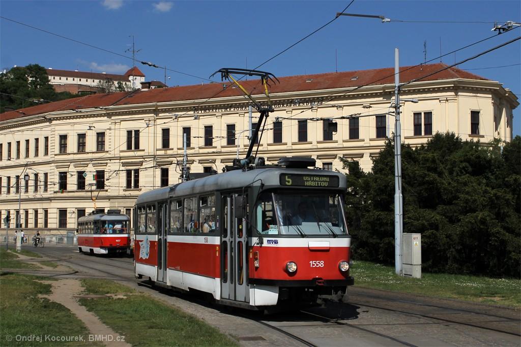 Fotogalerie » Pragoimex T3R.PV 1558 | Brno | Staré Brno | Mendlovo náměstí