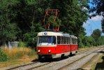 Retro tramvaj K2 1123 byla zachycena první červencovou sobotu na lince 10