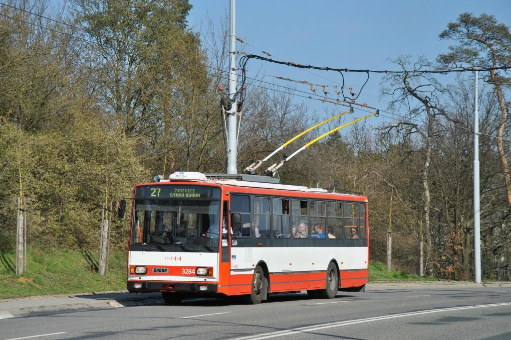Fotogalerie » Škoda 14TrR 3284 | Brno | Vinohrady | Žarošická | Vlčnovská