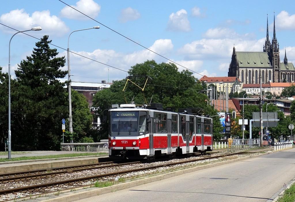 Fotogalerie » ČKD Tatra KT8D5R.N2 1721 | Brno | Štýřice | Renneská třída