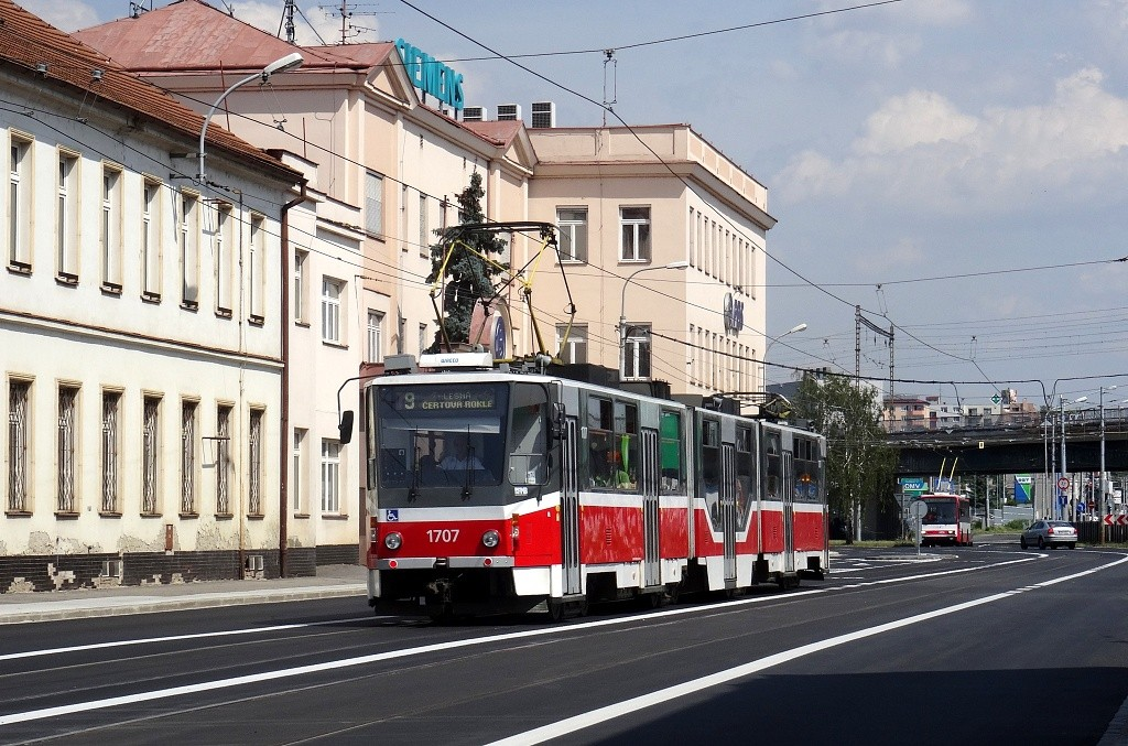 Fotogalerie » ČKD Tatra KT8D5R.N2 1707 | Brno | Černovice | Olomoucká