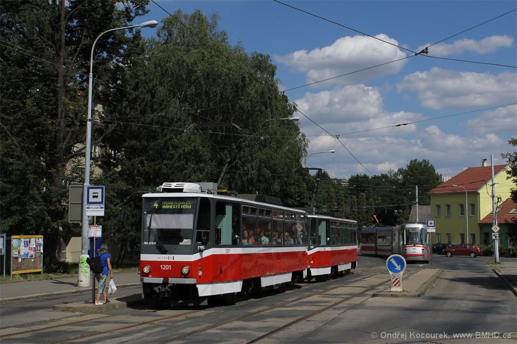 Fotogalerie » ČKD DS T6A5 1201 | ČKD DS T6A5 1202 | Brno | Maloměřice | Dolnopolní | Maloměřický most