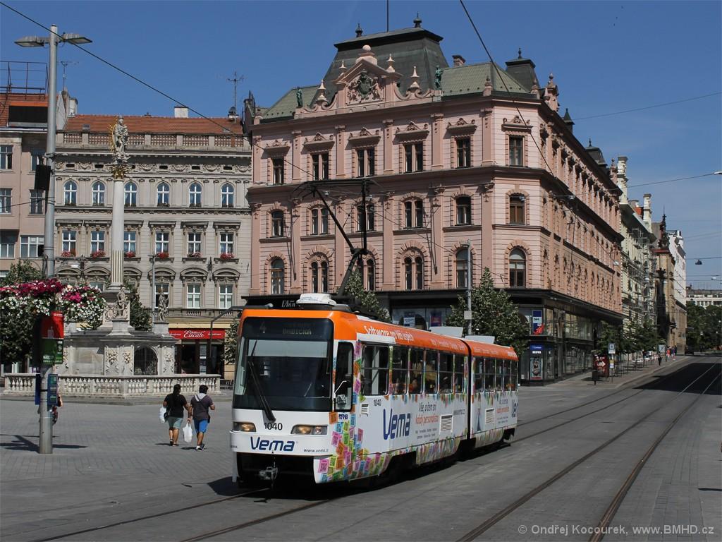 Fotogalerie » ČKD Tatra K2R03-P 1040 | Brno | střed | náměstí Svobody